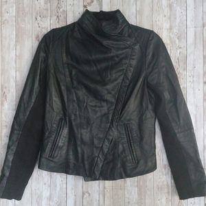 Spiegel Black 100% Leather Moto Jacket